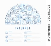 internet concept in half circle ... | Shutterstock .eps vector #780551728