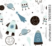 childish seamless pattern with... | Shutterstock .eps vector #780558853