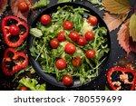 vegetarian salad proper... | Shutterstock . vector #780559699