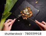 delicious restaurant eating... | Shutterstock . vector #780559918
