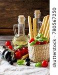 bread sticks with rosemary ...   Shutterstock . vector #780567250