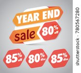 year end sale 80  85  off... | Shutterstock .eps vector #780567280
