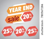 year end sale 20  25  off... | Shutterstock .eps vector #780567286
