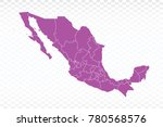 map mexico map. each city and... | Shutterstock .eps vector #780568576