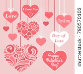 valentine s day collection of... | Shutterstock .eps vector #780570103