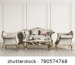 interior with classic furniture ... | Shutterstock . vector #780574768