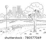 park river graphic black white... | Shutterstock .eps vector #780577069