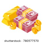 50 pound sterling banknotes... | Shutterstock .eps vector #780577570
