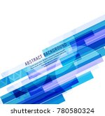 abstract blue line background | Shutterstock .eps vector #780580324