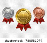set of realistic 3d champion... | Shutterstock .eps vector #780581074
