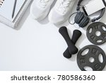 sports equipment flat lay ... | Shutterstock . vector #780586360