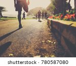 back view of young sport man... | Shutterstock . vector #780587080