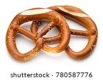 pretzel isolated on white.... | Shutterstock . vector #780587776