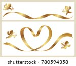 a set of two valentine s card...   Shutterstock .eps vector #780594358