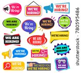 we are hiring sign.... | Shutterstock .eps vector #780595486