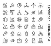 project management vector icons | Shutterstock .eps vector #780600253