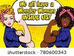 woman vs woman. we can do it.... | Shutterstock .eps vector #780600343