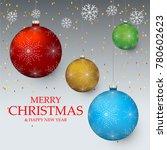 christmas light vector... | Shutterstock .eps vector #780602623