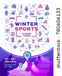 winter sport poster  contest... | Shutterstock .eps vector #780606133