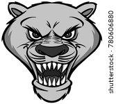 cougar mascot head illustration ...   Shutterstock .eps vector #780606880
