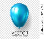 realistic 3d render blue... | Shutterstock .eps vector #780619783