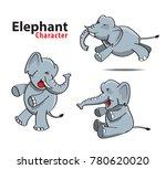 elephant character llustration... | Shutterstock .eps vector #780620020