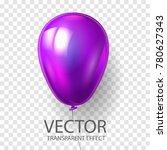 realistic 3d render purple... | Shutterstock .eps vector #780627343