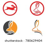 rabbit logo template vector... | Shutterstock .eps vector #780629404