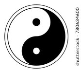 yin yang symbol of harmony and... | Shutterstock .eps vector #780634600