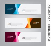 banner background. modern... | Shutterstock .eps vector #780640480
