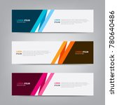 banner background. modern... | Shutterstock .eps vector #780640486