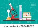 laboratory equipment  jars ... | Shutterstock .eps vector #780640828