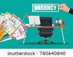 office chair  sign vacancy.... | Shutterstock .eps vector #780640840