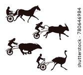 set of silhouettes horse  bulls ...   Shutterstock .eps vector #780646984