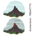 picture active volcano  and no... | Shutterstock .eps vector #780647773