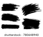 painted grunge stripes set.... | Shutterstock .eps vector #780648940