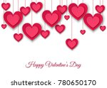 valentines day  background with ... | Shutterstock .eps vector #780650170