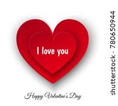 happy valentines day ... | Shutterstock .eps vector #780650944
