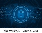 cyber security technology... | Shutterstock .eps vector #780657733