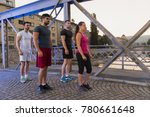 group of young sporty people... | Shutterstock . vector #780661648
