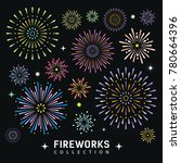 fireworks collections design... | Shutterstock .eps vector #780664396