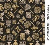 vector maya seamless pattern.... | Shutterstock .eps vector #780666619