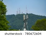 signal transmit tower and... | Shutterstock . vector #780672604