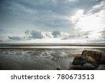 cloudy monsoon sky at the beach | Shutterstock . vector #780673513