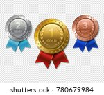 set of realistic 3d champion... | Shutterstock .eps vector #780679984