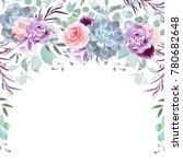 semicircle garland frame... | Shutterstock .eps vector #780682648