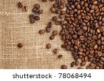 coffee on sack | Shutterstock . vector #78068494