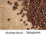 coffee on sack | Shutterstock . vector #78068494