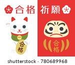 Daruma And Lucky Cat Poster...