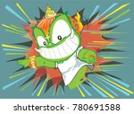 thai giant attact to leaping... | Shutterstock .eps vector #780691588